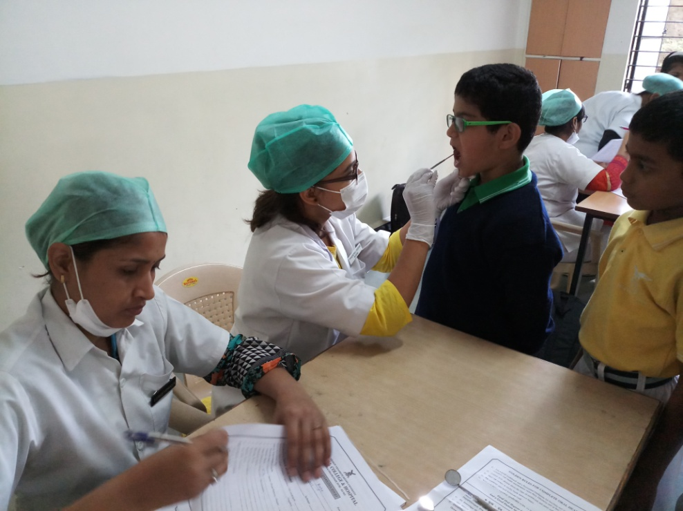 Free dental check up & health awareness camps